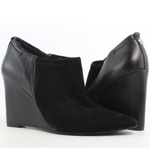 "Vince Camuto Black 4"" Wedge Ankle Booties"